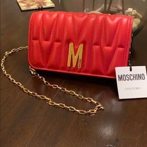 Moschino Red Quilted Handbag